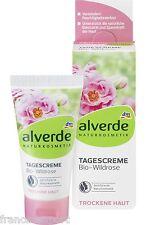 CREME DE JOUR A LA ROSE SAUVAGE Bio NATUREL & VEGAN 50 ml Peau Sèche - ALVERDE