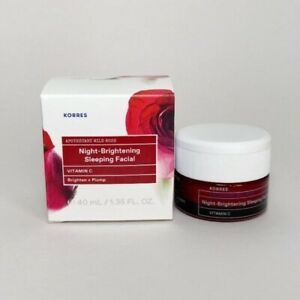 Korres Wild Rose Night-Brightening Sleeping Facial 40 mL / 1.35 oz New in Box
