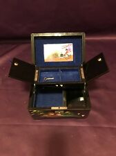 Beautiful Vintage Asian Black Lacquered Women's Jewelry Box