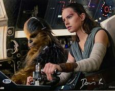 Daisy Ridley Signed Star Wars Jedi Skywalker 11x14 Photo - Rey Beckett BAS 32