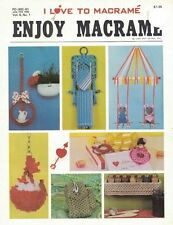 Pat Depke Enjoy Macrame 1981 Booklet Pd-992-61 Gifts Toys Home Decor & More