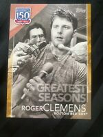 2019 Topps 150 Years - Roger Clemens  SP/10 - 5x7 - Greatest Seasons - Free Ship