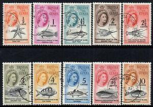 Tristan Da Cunha 1961 QEII  Part Set - Values to 10c   SG.42/51 Fine Used