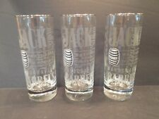 Lot of 3 Jack Daniel's Old No 7 Tall Glasses High Ball Barrel Barware