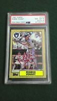 Robin Yount 1987 Topps #773 Signed Brewers HOF Autographed Authentic PSA/DNA