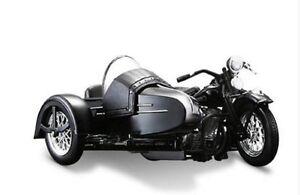 Maisto 1:18 Harley Davidson 1948 FL PANHEAD SIDECAR MOTORCYCLE BIKE Model IN BOX