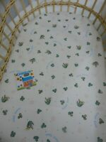 Bassinet Fitted Sheet  Gumnut Babies 100% Cotton FITS STANDARD BASSINET