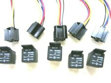 12 Volt 30/40 amp 5-prong relays and sockets