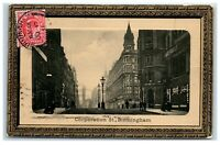 Postcard Corporation Street Birmingham posted 1911 (3-I)