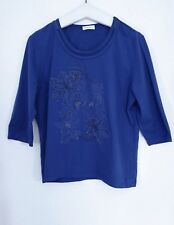 Bonita Stretch Shirt Gr.XL/44 46 Frontmotiv Pailletten royalblau TOP