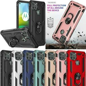 For Motorola Moto G9 Power Case, XT2091, Shockproof Ring Armor Stand Phone Cover