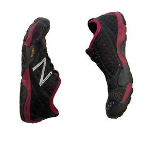 "NEW BALANCE VIBRAM ""MINIMUS WT20"" Womens US 8 Black Pink Trail Running Shoes EUC"