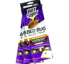 Lot of 3 Boxes of 4 Traps (12 Traps) Hot Shot Bed Bug Glue Trap Bed Bug Detector