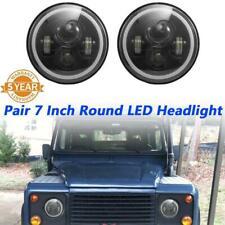 "Pair 7"" Inch LED Headlight Projector Headlamp For Land Rover Jeep Wrangler CJ TJ"