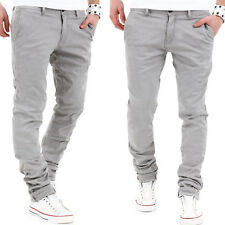 BEHYPE Herren Chinohose Slim Stil Chino Hose Jeans Grau/Navy/Beige/Hellgrau NEU