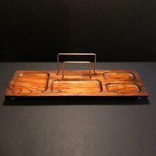 Vintage wood desk organizer/ Bedside Valet / Desk caddy/ Office décor