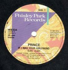 """PRINCE.IF I WAS YOUR GIRLFRIEND / SHOCKADELICA.UK ORIG """"1987"""" 7"""".EX"""