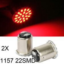2x 1157 BAY15D Red 22 SMD 1206 LED Brake Side Turn Light Backup Tail Bulb Car