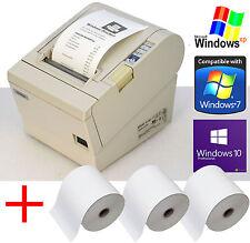 DRUCKER KASSENDRUCKER EPSON TM-T88III SERIEL+ USB BIS WIN XP 7 10 + 3xROLLS 88-3