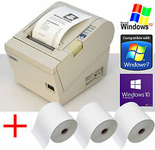 Impresoras Epson kassendrucker tm-t88iii Seriel + USB hasta Win XP 7 10 + 3 xrolls 88-3