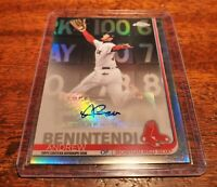 ANDREW BENINTENDI AUTOGRAPH 2019 TOPPS UPDATE CHROME #CUA-AB #AUTO RED SOX!