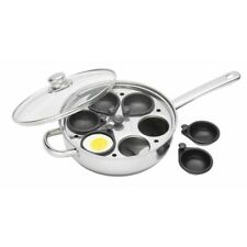 28cm Stainless Steel Six Hole Egg Poacher - Kitchen Craftcm Clearview 6 28