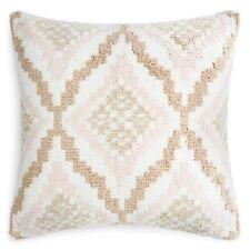 "Sky 20"" x 20"" Decorative Pillow Chambray Stripe Diagonal Shag E92129"