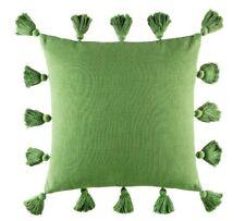 NEW KAS Emilio Olive Tassel Square Cushion RPR $59.95