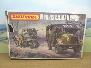 MATCHBOX 1/76 SCALE MORRIS C.8 MK.II WILLY'S JEEP PRE-LOVED SUIT AIRFIX