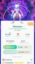 Pokemon Go MewTwo 2900 CP Trade Ultra Friends ✅ Pick Your Moveset!