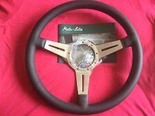 """Moto-Lita 15"""" MK4 lucido in pelle piatto sottile slot volante VW Beetle ecc."""