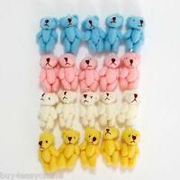 20 Pcs 4 color Little / Mini Teddy Bear Stuffed Doll Very Cute 3.5cm Wholesale