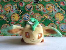 Pokemon Center Plush Laying Leafeon Kuttari Kuta bean bag Stuffed doll figure