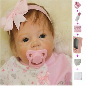 50cm Mädchen Realistic Reborn Babypuppen Doll Handmade Vinyl Silikon Spielzeug