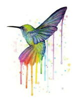 180421 Rainbow Hummingbird Olga Shv sur Animal Bird Decor WALL PRINT POSTER AU