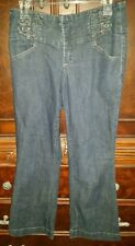 Women's Size 6 Petite VTG 40-50s Style Blue Dungaree Jeans by One 5 One