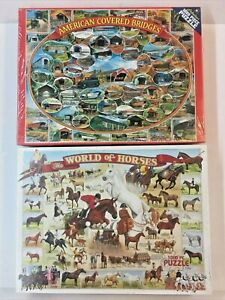 2 White Mountain The World of Horses American Covered Bridges 1000 Pc Puzzles Pr