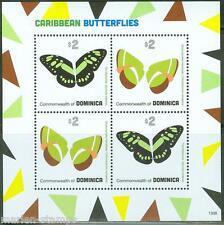 DOMINICA 2013  CARIBBEAN BUTTERFLIES SHEET OF FOUR PART II   MINT NH