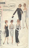 1964 Vintage Sewing Pattern B34 DRESS, OVERBLOUSE & TOP (R828)