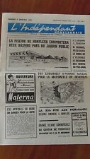 HONFLEUR DEAUVILLE TROUVILLE journal  l'indépendant honfleurais DEC 1969