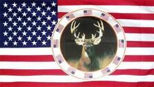 Fahne Flagge USA mit Hirsch 90 x 150 cm