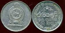 SRI LANKA  1 rupee  1982   ( bis )