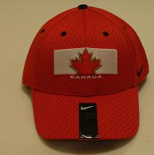 Team Canada 2014 Winter Olympics Hockey Mesh Dri Fit Red Flex Fit Hat Cap OSFM