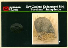 NEW ZEALAND : 1990. High Value Bird set Overprinted SPECIMEN in Special Booklet.