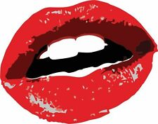 sticker decal car bike bumper laptop macbook jdm tunning lips kiss love vinyl