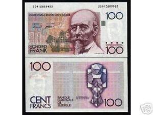BELGIUM 100 FRANCS P142 1982 X 10 PCS LOT PRE EURO GEOMETRIC UNC MONEY BANK NOTE