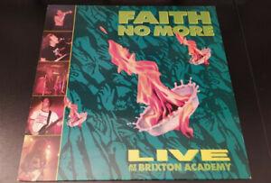 "FAITH NO MORE ""Live At The Brixton Academy"" LP vinyl UK 1991 NM/VG+"