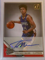 2020 Clearly Donruss TERANCE MANN Auto SILVER Rated Rookie RC Clippers! #CA-TMN