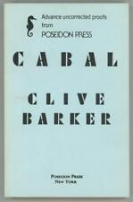 Cabal by Clive Barker ARC Uncorrected Proof Signed