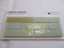 "FIRED EARTH IRIDESCENT GLASS MOSAICS SAMPLE CARD WALL TILES SANDSTONE 1"" X 4"""